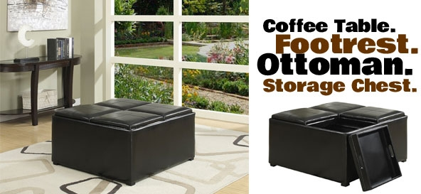 5 Ways To Use A Futon Storage Ottoman At Home Clearly Inside Coffee Table Footrests