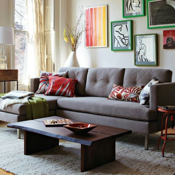54 Best Decor Grey Couch Images On Pinterest Clearly Inside Charcoal Grey Sofas (Photo 14 of 20)
