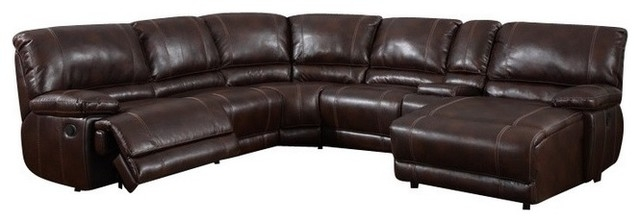 6 Piece Sectional Brown 940 Contemporary Sectional Sofas most certainly pertaining to 6 Piece Leather Sectional Sofa (Image 3 of 20)