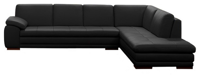 625 Modern Italian Leather Sectional Jm Sectional Sofas most certainly regarding Contemporary Black Leather Sectional Sofa Left Side Chaise (Image 1 of 20)