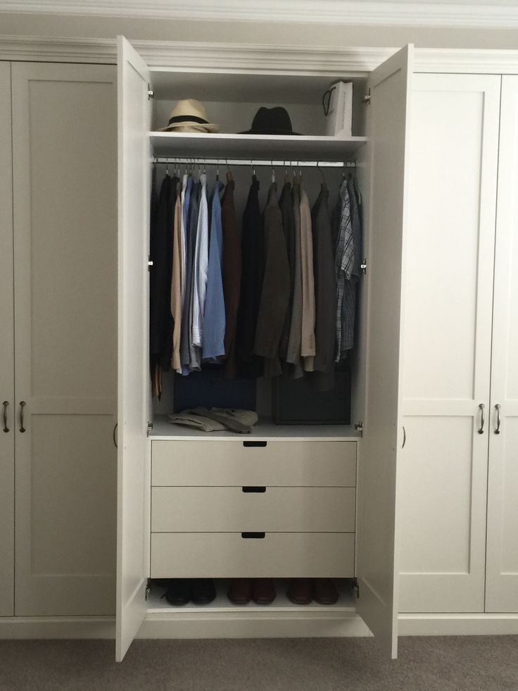 7 Best Computer Cabinet Images On Pinterest most certainly throughout Double Wardrobe With Drawers And Shelves (Image 9 of 30)