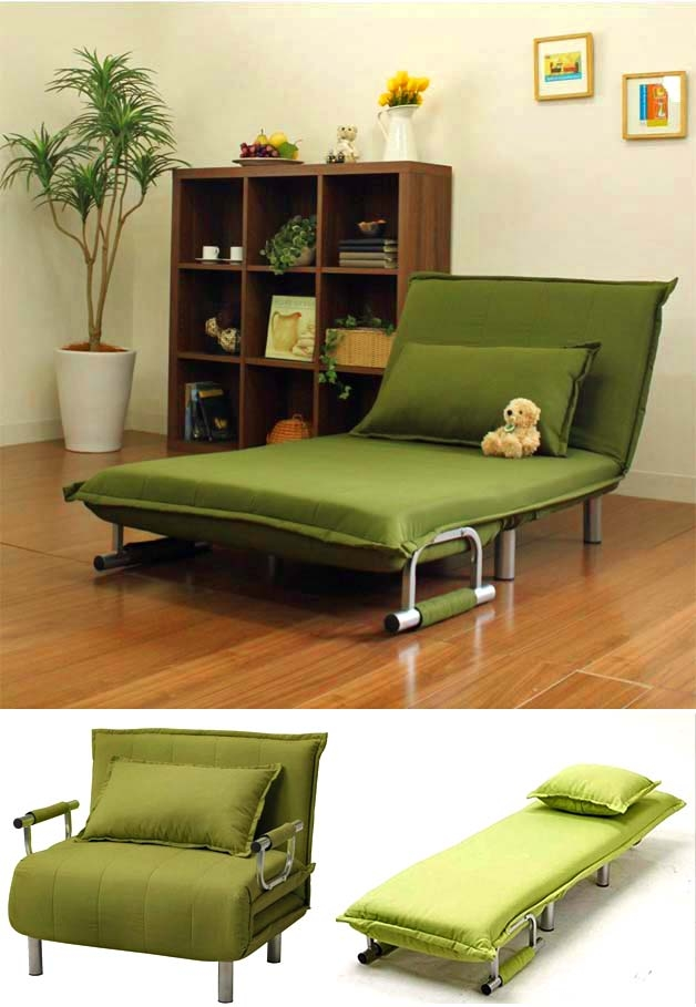 7 Brillant Folding Sofas Chaise Lounges Beds Godownsize effectively with regard to Folding Sofa Chairs (Image 2 of 20)
