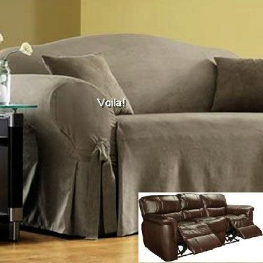 90 Best Slipcover 4 Recliner Couch Images On Pinterest Perfectly With Regard To Sofa Settee Covers (View 1 of 20)