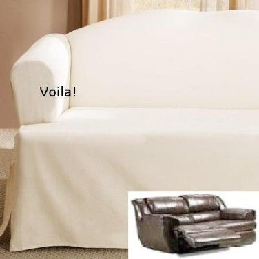 90 Best Slipcover 4 Recliner Couch Images On Pinterest properly within Slipcovers for Chairs and Sofas (Image 6 of 20)