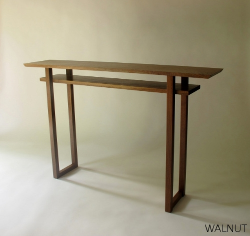 A Modern Narrow Console Table Or Narrow Sofa Table With Inset well inside Narrow Sofa Tables (Image 2 of 20)