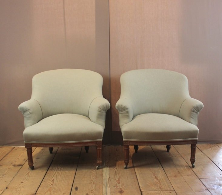 A Pair Of Small Armchairs French C 1880 Magus Antiques nicely for Small Armchairs (Image 4 of 20)