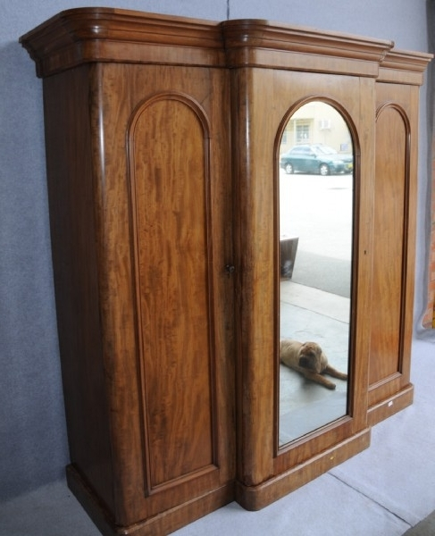 A Victorian Flame Mahogany Breakfront Wardrobe Wardrobes And most certainly regarding Breakfront Wardrobe (Image 11 of 30)
