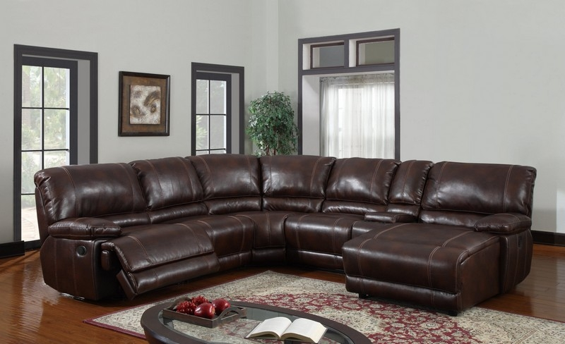 Above Is A Brown Leather Sectional Sofa With Vintage Look S3net definitely intended for Vintage Leather Sectional Sofas (Image 3 of 20)