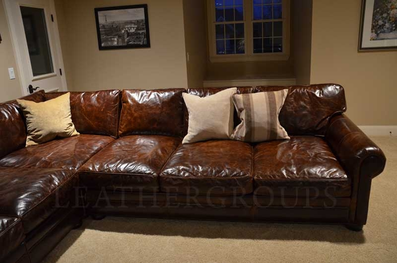 Above Is A Brown Leather Sectional Sofa With Vintage Look S3net well throughout Vintage Leather Sectional Sofas (Image 4 of 20)