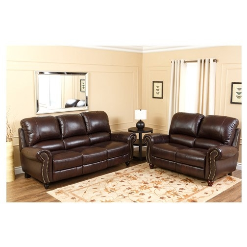 Abson Living Ch 8857 Brg 32 Canterbury Leather Pushback good for Canterbury Leather Sofas (Image 1 of 20)
