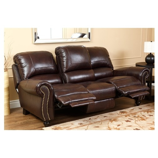 Abson Living Ch 8857 Brg 32 Canterbury Leather Pushback perfectly in Canterbury Leather Sofas (Image 2 of 20)