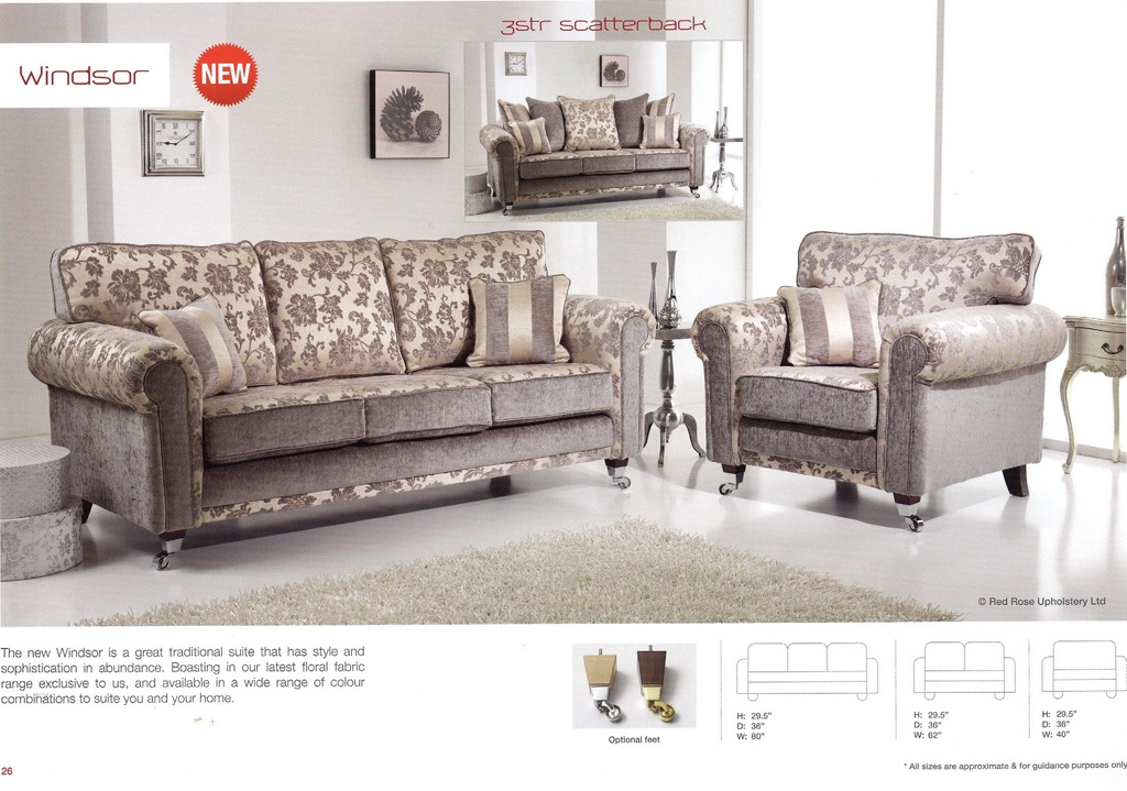 Adams Furniture Store Fabric Sofas Well Throughout Windsor Sofas (Image 1  Of 20)