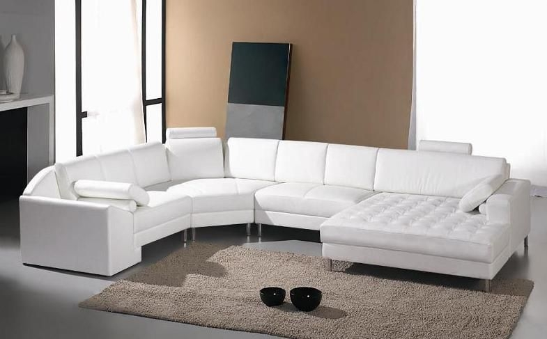 Adjustable Advanced Tufted Curved Sectional Sofa In Half Leather very well intended for Extra Wide Sectional Sofas (Image 2 of 20)