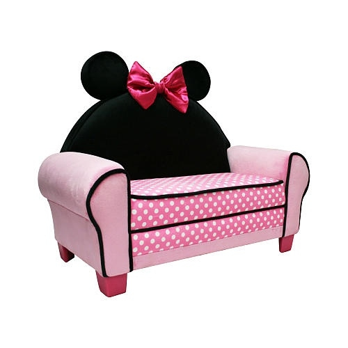 Agreeable Disney Minnie Mouse Toddler Sofa Chair And Ottoman Set effectively inside Toddler Sofa Chairs (Image 3 of 20)
