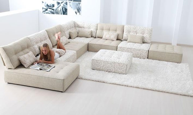Alice Modular Fabric Sofa Cream Extra Large Corner Sofa With certainly in Modular Corner Sofas (Image 1 of 20)