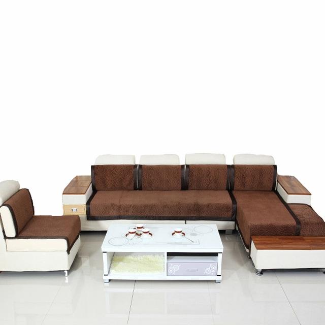 Aliexpress Buy 1pc Velvet Fabric Sofa Brown Decorative Sofas Well Regarding Sofa Armchair Covers (View 4 of 20)
