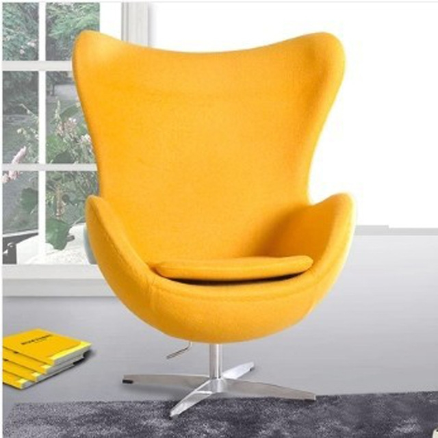 Aliexpress Buy Egg Style Chair Top Cashmereliving Room most certainly within Yellow Sofa Chairs (Image 1 of 20)