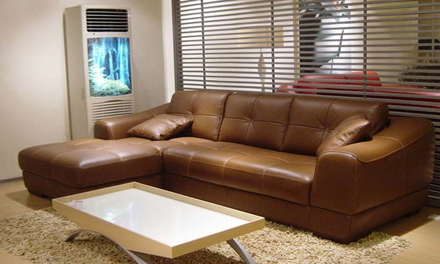 Aliexpress Buy Free Shipping 2013 Euro Modern Design Living properly regarding Small Brown Leather Corner Sofas (Image 2 of 20)