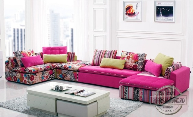 2018 Popular Colorful Sectional Sofas