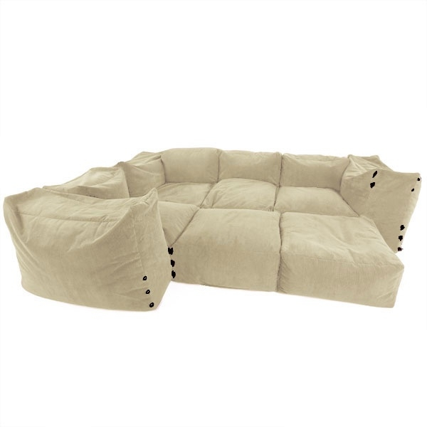 Amazing Bean Bag Sofa Super Comfy For Home Theater Neat properly within Bean Bag Sofas And Chairs (Image 1 of 20)