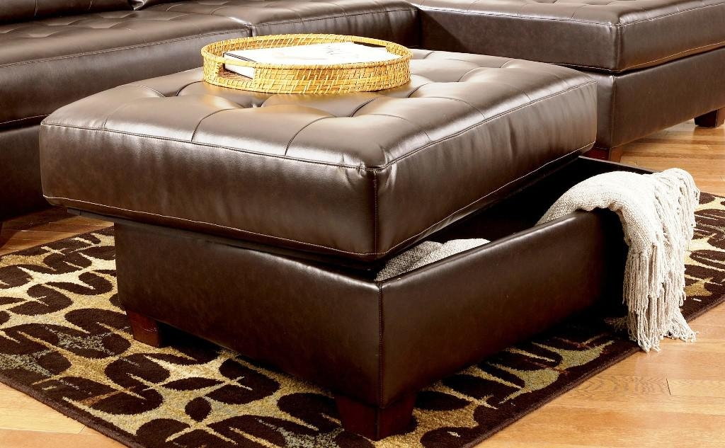 Amazing Ottoman Coffee Table With Storage Best Ideas About Leather most certainly in Brown Leather Ottoman Coffee Tables With Storages (Image 5 of 20)