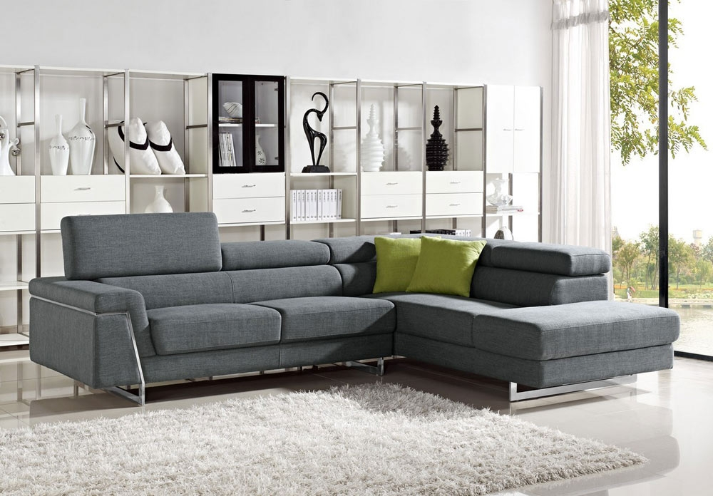 Amazing Sectional Modern Sofa With Sofas Sectionals Fabric good with regard to Modern Sofas Sectionals (Image 4 of 20)