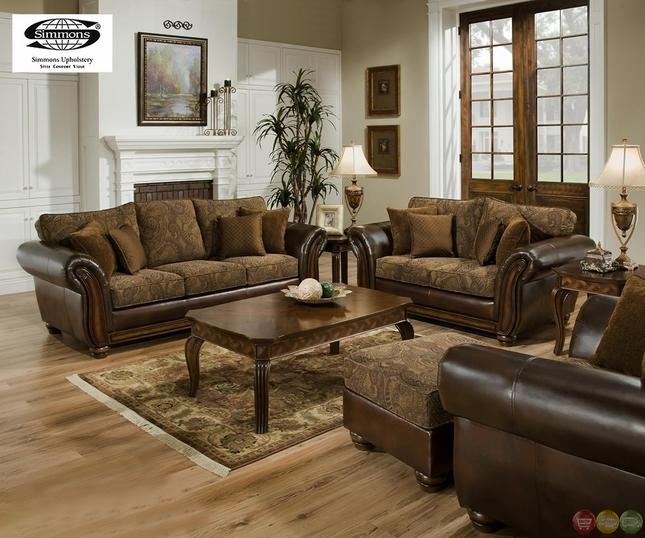 Amazing Sofa Loveseat Set Coja Huntington Italian Leather Sofa good throughout Sofa Loveseat And Chairs (Image 3 of 20)