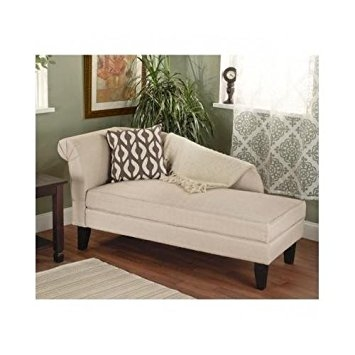 Amazon Beigetan Storage Chaise Lounge Sofa Chair Couch For properly pertaining to Chaise Sofa Chairs (Image 2 of 20)