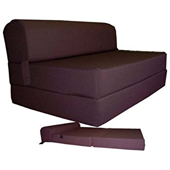 Amazon Brown Sleeper Chair Folding Foam Bed Sized 6 Thick X good pertaining to Fold Up Sofa Chairs (Image 7 of 20)