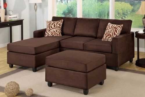 Amazon Chocolate Brown Sectional Couch With Free Matching nicely with regard to Chocolate Brown Sectional Sofa (Image 4 of 20)