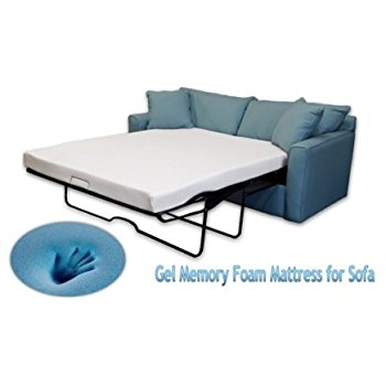 Amazon Classic Brands Memory Foam Replacement Sofa Bed 45 definitely pertaining to Pull Out Queen Size Bed Sofas  (Image 2 of 20)