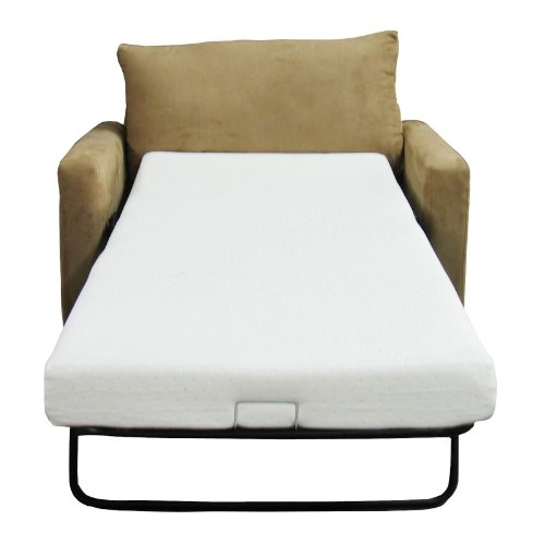 Amazon Classic Brands Memory Foam Replacement Sofa Bed 45 very well throughout Cheap Single Sofa Bed Chairs (Image 4 of 20)