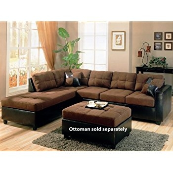 Amazon Coaster Home Furnishings 505655 Casual Sectional Sofa properly inside Chocolate Brown Sectional Sofa (Image 5 of 20)
