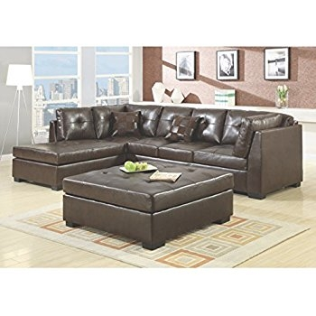 Amazon Contemporary Black Leather Sectional Sofa Left Side very well throughout Contemporary Black Leather Sectional Sofa Left Side Chaise (Image 4 of 20)