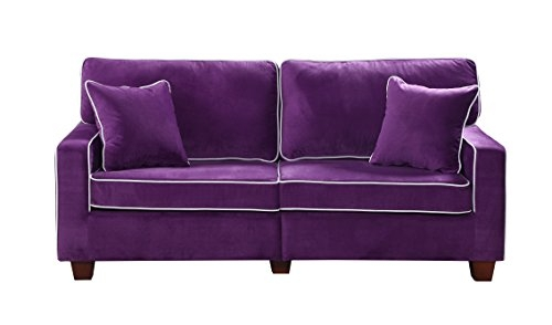 Amazon Divano Roma Furniture Collection Modern Two Tone good for Velvet Purple Sofas (Image 3 of 20)
