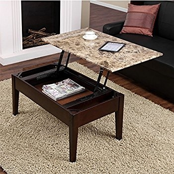 Amazon Dorel Living Faux Marble Lift Top Coffee Table most certainly in Coffee Tables Top Lifts Up (Image 4 of 20)