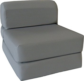 Amazon Gray Sleeper Chair Folding Foam Bed Sized 6 Thick X properly in Folding Sofa Chairs (Image 9 of 20)