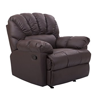 Amazon Homcom Pu Leather Rocking Sofa Chair Recliner Brown Perfectly Inside Sofa Rocking Chairs (View 2 of 20)