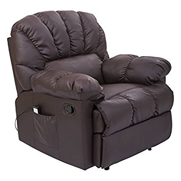 Amazon Homcom Pu Leather Vibrating Massage Sofa Chair Good Regarding Sofa Chair Recliner (View 10 of 20)