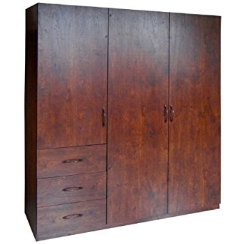 Amazon Home Source Industries 9129 Wardrobe With Space For effectively with Wardrobe With Shelves and Drawers (Image 28 of 30)
