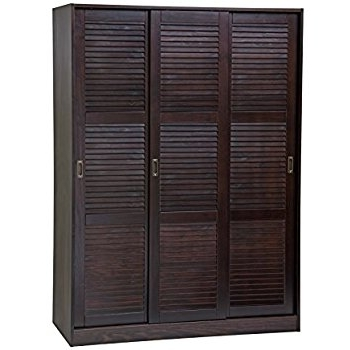Amazon Home Source Industries 9129 Wardrobe With Space For most certainly throughout 3 Door Wardrobe With Drawers and Shelves (Image 24 of 30)