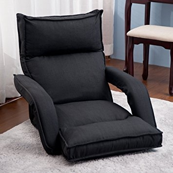 Amazon Merax Adjustable Fabric Folding Chaise Lounge Sofa properly with Chaise Sofa Chairs (Image 4 of 20)