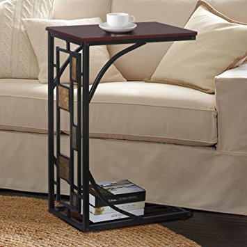 Amazon New Coffee Tray Side Sofa Table Couch Room Console good regarding Sofa Drink Tables (Image 4 of 20)