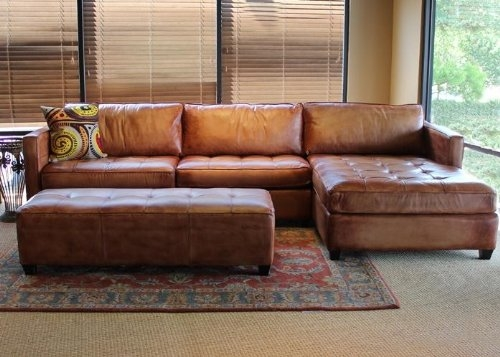 Featured Photo of Vintage Leather Sectional Sofas
