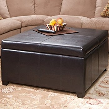 Amazon Simpli Home Avalon Coffee Table Storage Ottoman W 4 definitely with regard to Brown Leather Ottoman Coffee Tables With Storages (Image 6 of 20)