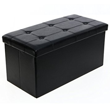 Amazon Songmics Folding Storage Ottoman Coffee Table Foot Perfectly In Coffee Table Footrests (View 4 of 20)
