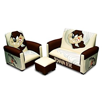 Amazon Warner Brothers Toddler Sofa Chair And Ottoman Set properly throughout Toddler Sofa Chairs (Image 6 of 20)