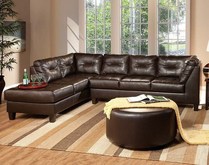 American Freight Transitional Sofa Dark Brown Fabric Venus good for Chocolate Brown Sectional Sofa (Image 7 of 20)