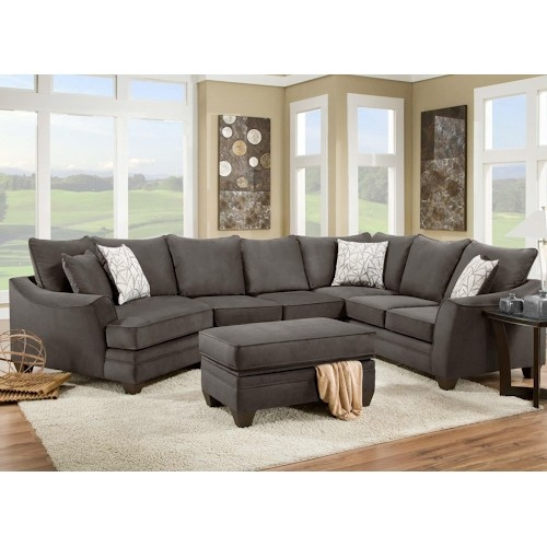 American Furniture 3810 Sectional Sofa That Seats 5 With Left Side very well in American Made Sectional Sofas (Image 4 of 20)