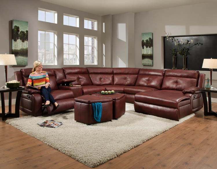 American Made 550 Dash Reclining Sofa Sectional In Leather Or perfectly inside American Made Sectional Sofas (Image 5 of 20)